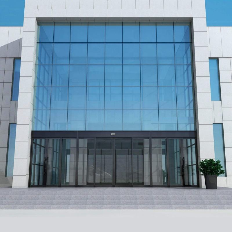 Fashion design Low-E glass curtain walls building facades double glazed glass curtain