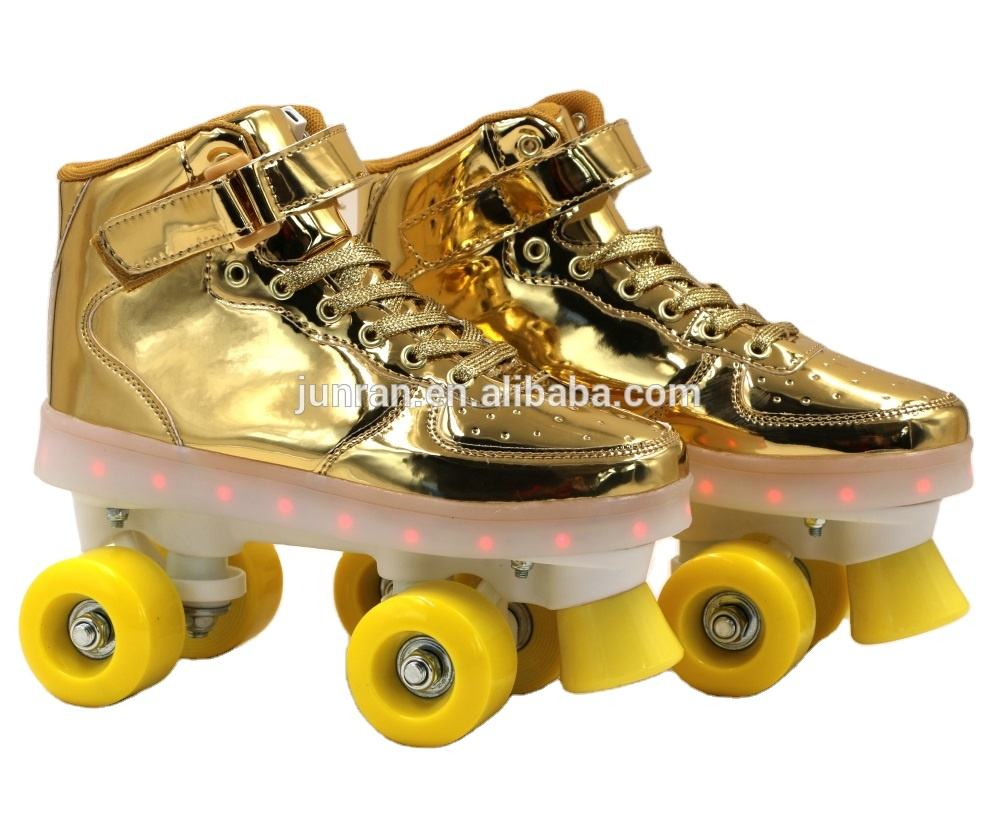 Children ' s wholesale four wheel led flashing roller skate for kids