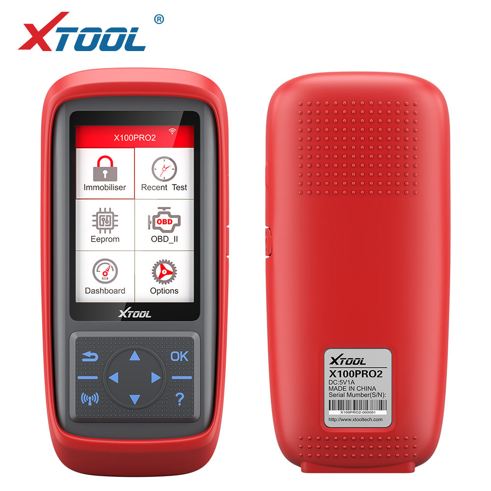 XTOOL 2019 X100 PRO2 key programmer OBD2 dashboard diagnostic tool odometer correction EEPROM code reader USB one-click upgrade