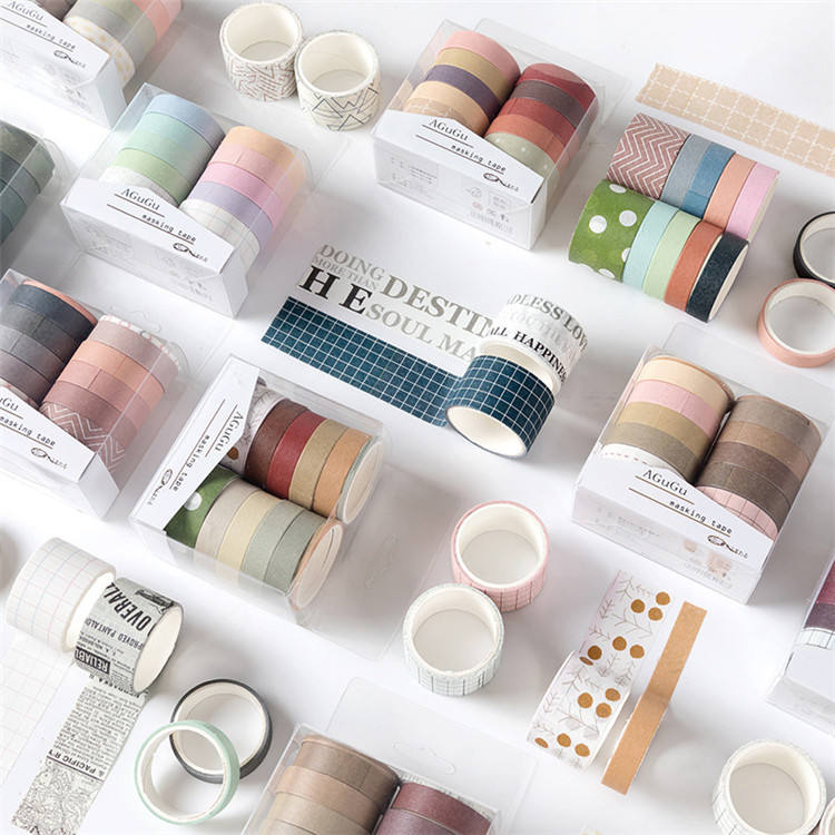 12 Roll/Pack Custom Printed Christmas Montreal Washi Tape Japanese Masking Tape Sticky Adhesive Sticker Decorative Tape