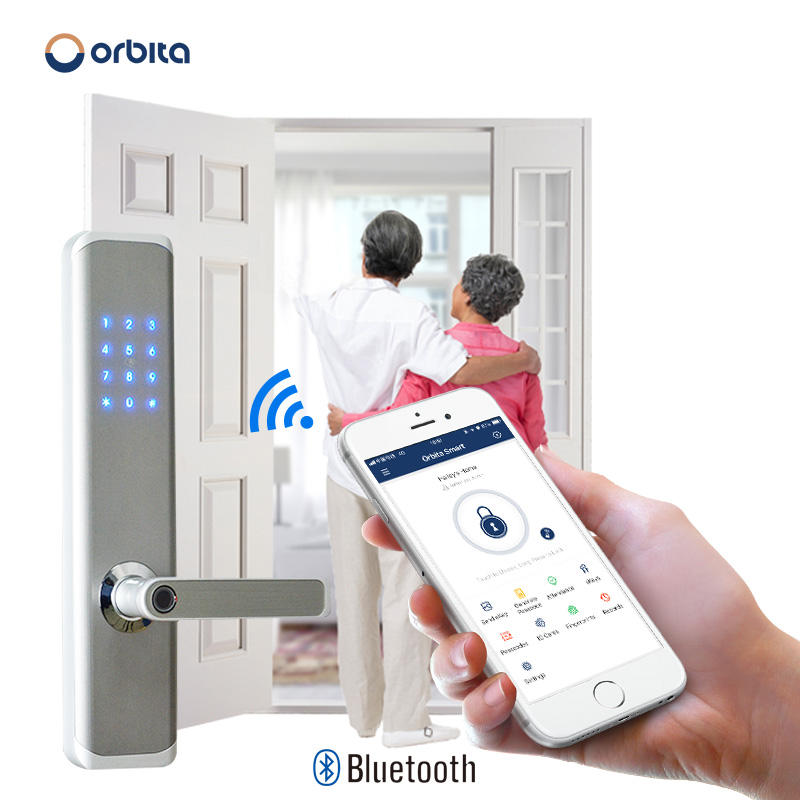 Orbita airbnb high quality home electronics apartment front door smart doorlock fingerprint