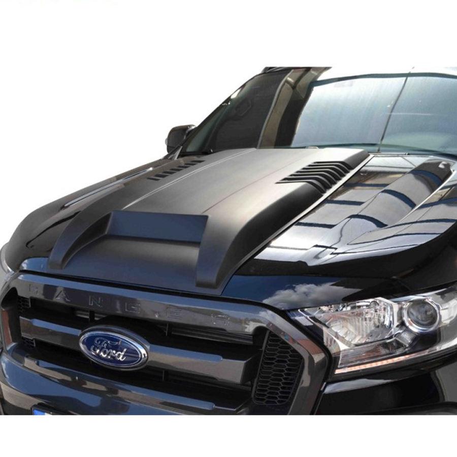 Bonnet Hood Scoop Trim Vent Cover for Ford Ranger T6 T7 2015 on T8 2019