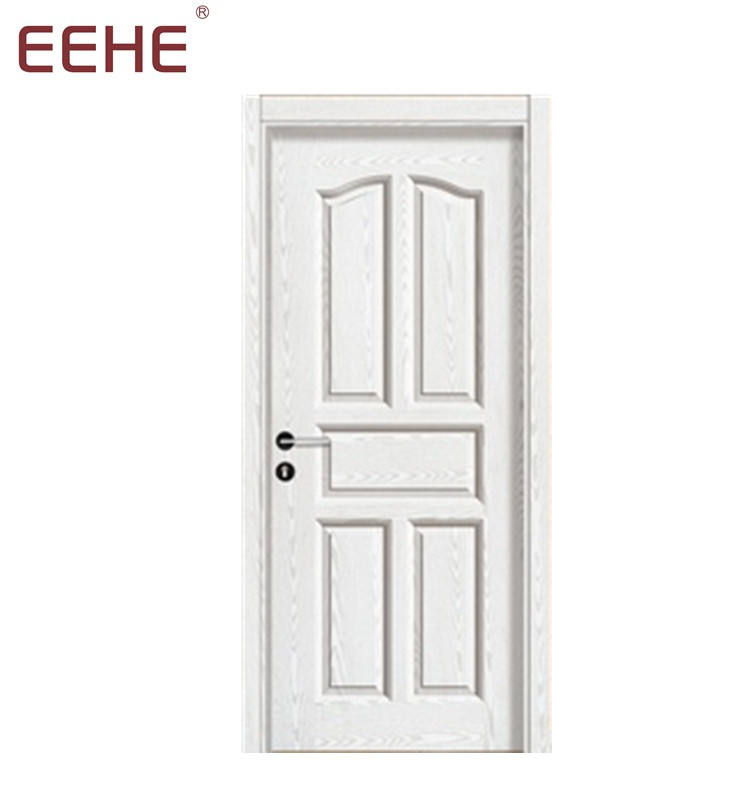 Soundproof Waterproof Interior Bathroom pvc wpc Wood Plastic Composite Flush Panel Door