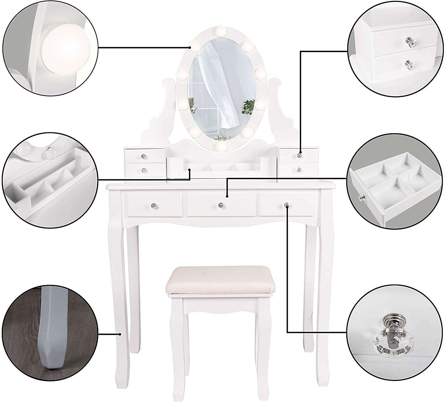 Cheap dressing table white dresser modern furniture bedroom dressing table for girls