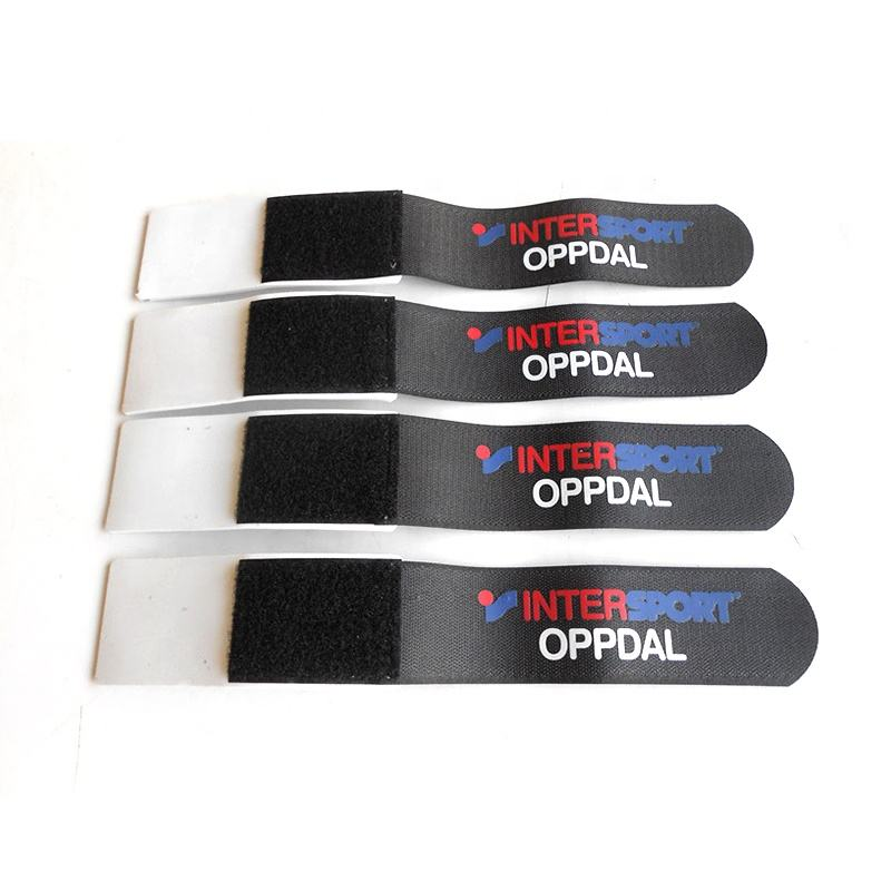 50*550mm custom printed alpine ski strap hook and loop