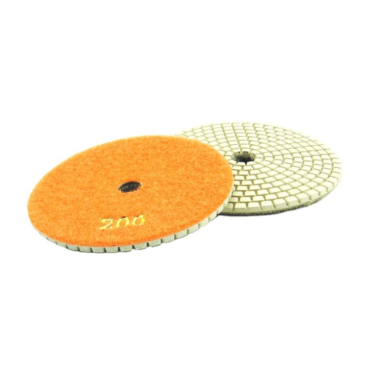125mm wet or dry diamond ceramic tiles floor stone marble granite polishing pads 5 step polishing pads