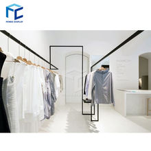 Fashion shop interior design clothing showroom furniture for sale