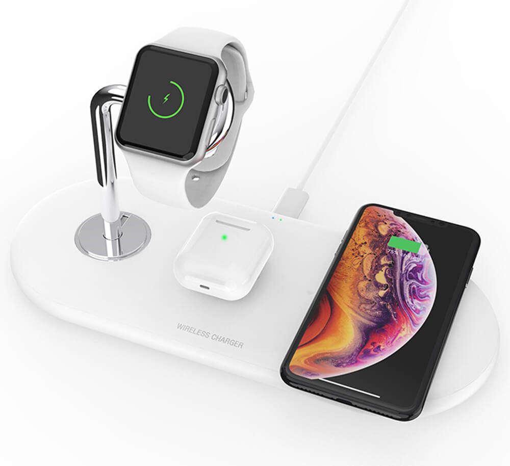 best selling products 2020 in usa amazon qi watch charge pad wireless charger stand 3 in 1 wireless charging dock station
