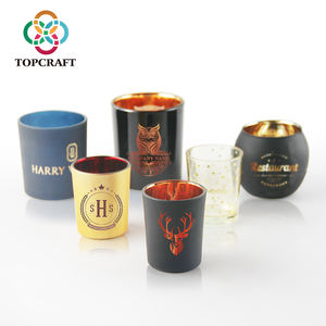Top products custom glass candle jars by engrave and laser for home decoration and wedding table centerpieces