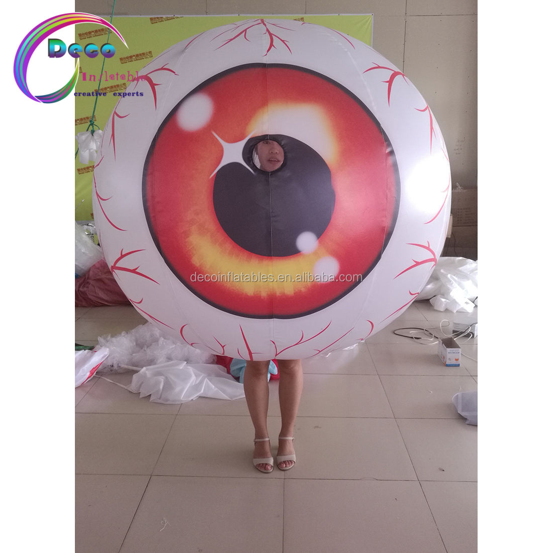 High Quality Human Moving Inflatable Eye Ball Suit