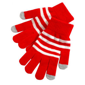 Kerst Handschoenen Smart Telefoon Tablet Winter Knit Warmer Touch Handschoenen Rood Wit Strepen Magic Touch Screen Handschoenen