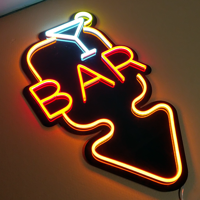 Outdoor flex led open sign for bar