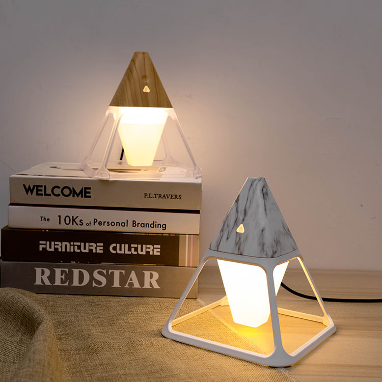 2020 New Fashion Design Unique Triangle Aromaterapia Diffuser Essential Oil Diffuser LED Light Air Humidifier