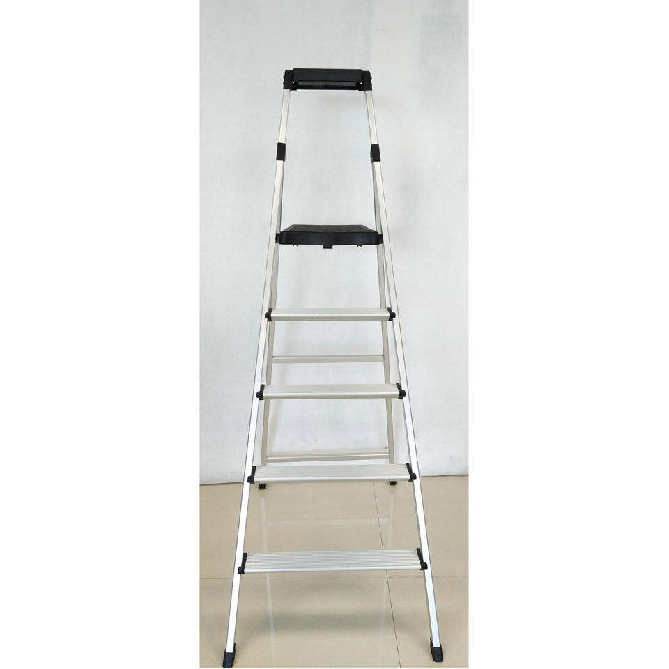 Aluminium Safeti Household 5 step Folding Ladder with Tool Tray and Anti-slip feet
