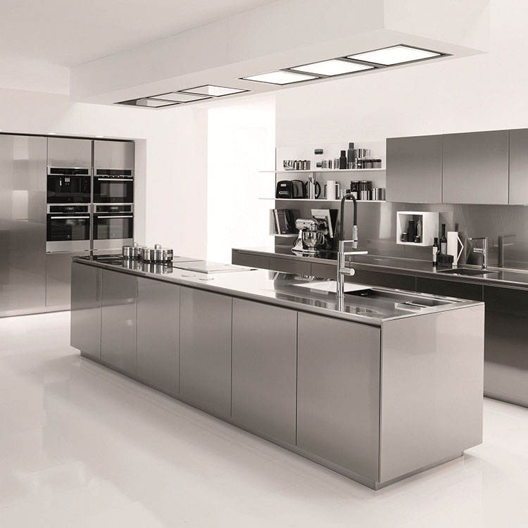 Custom Stainless Steel High Quality Simple Design Modern Kitchen Cabinet