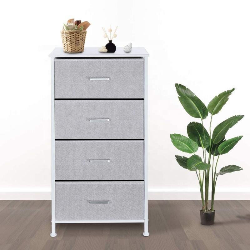 Durable Storage Equipment Office Metal 4 Drawer Filing Cabinet Chest of Drawers Bedroom Furniture