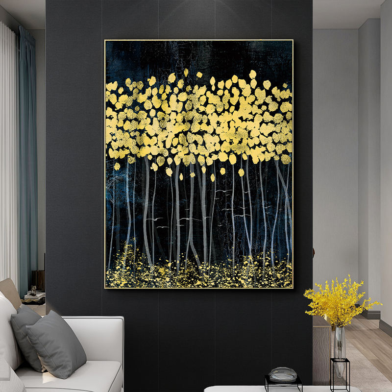 canvas printing service custom living room wall art modern abstract painting with gold