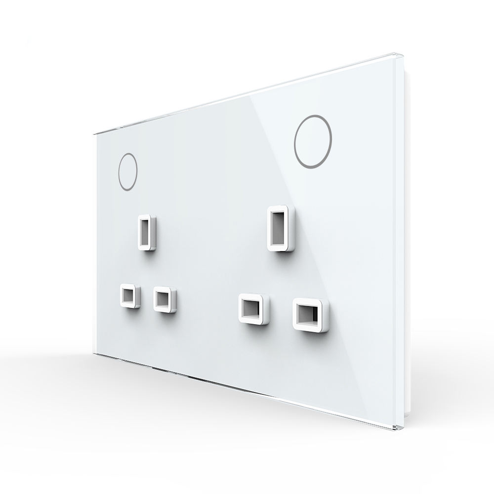 Livolo New Style 13a Wall Outlet Wall Power Uk Standard Double Sockets Wall 2 Gang Socket And Switch