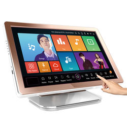 karaoke  machine singing 19 inch all in one jukebox  system  with 40w+ songs touchscreen hdd player