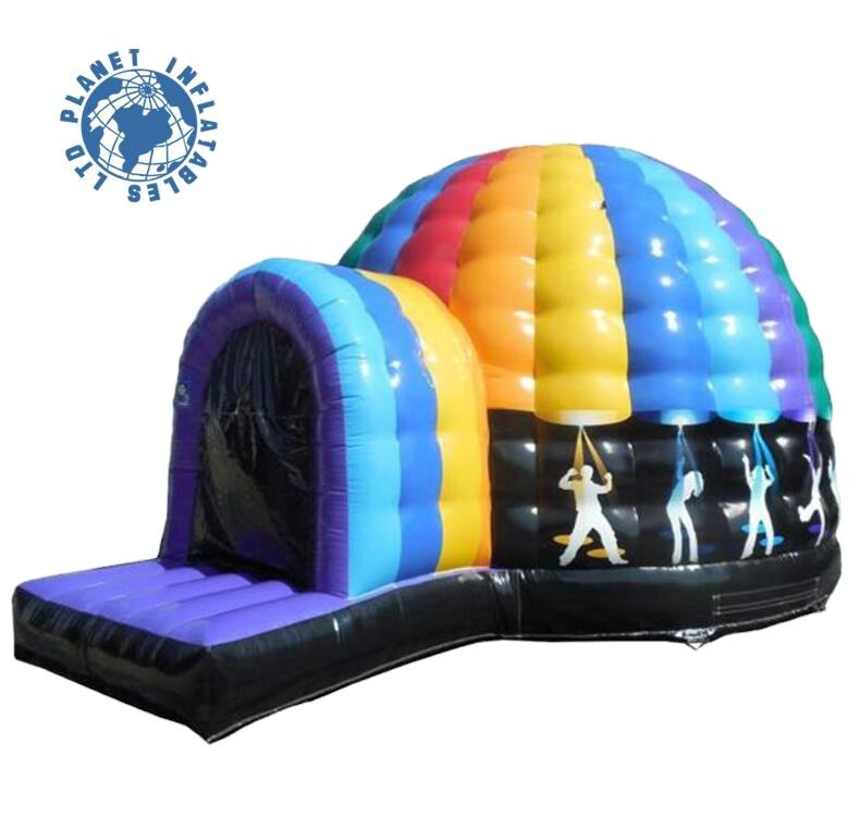 Hot Sale Outdoor Inflatable Disco Dome Bouncer Music Inflatable Bounce Dome Castle For Rental