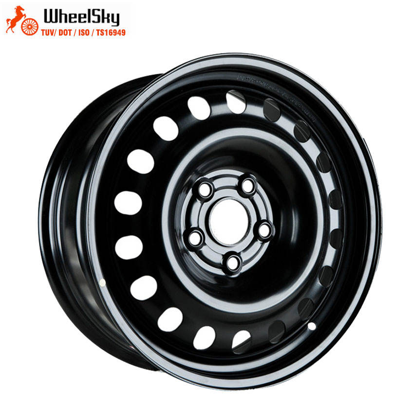 Wheelsky 인기있는 785A01 17X7 5x120 <span class=keywords><strong>자동차</strong></span> 블랙 겨울 눈 17 인치 스틸 휠 <span class=keywords><strong>림</strong></span>