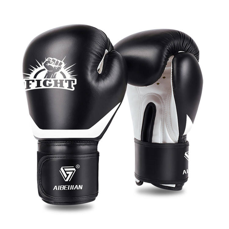 Wholesale Manufacturers Custom Hook & Loop, Or Lace Up Black Red Boxing Gloves For Sanda Kickboxing Muay Thai Mma/