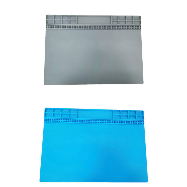 Customized Hot Selling Silicone Pad Temperature Heat Resistant Repair Tool Insulation Desk Mat For Mobile Phone With Magnetic