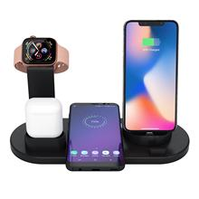 WELUV 3 in 1 Wireless Charger Stand with QI Fast Charging Dock Station For Apple iPhone iWatch Airpod