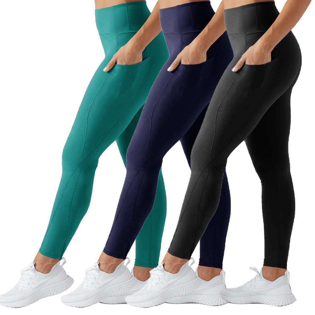 Tummy Control Workout Fitness Running 4 Way Stretch Yoga Leggings High Waist Yoga Pants with Pockets for Women