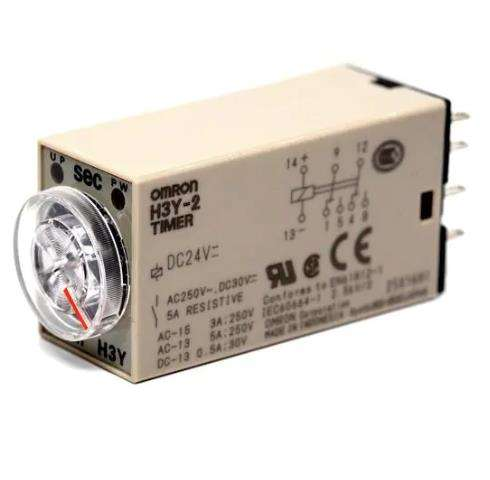 H3Y-2 DC24 60S Digital Plug Timer 1- phase Power ON-delay 8-pin DPDT Solid State Timer with Socket