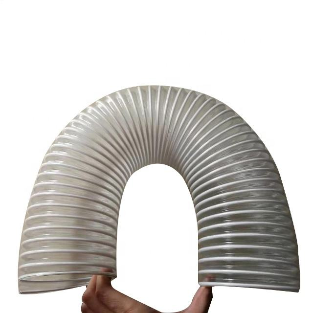 "2"" 3"" 4inch 5"" 6inch 8 inch 10inch plastic transparent corrugated pvc pu flexible spiral hose 12 inch air duct for conditioner"