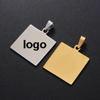 Cheap Design Stainless Steel Metal Pendant Jewelry Dog Tag Logo Custom Laser Engraved Blanks Charm Letter Pendant