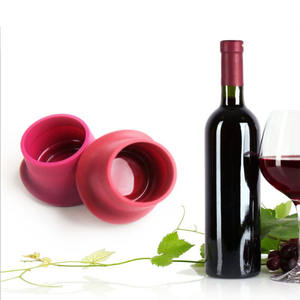 Silicone red wine cover wine stopper beer stopper can be customized silicone rubber bottle cap silicone bottle caps LOGO