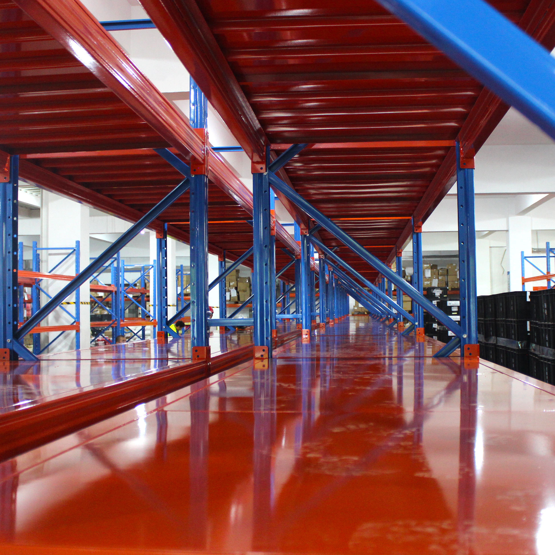 OEM Warehouse Storage System Industrial Material Handling Heavy Duty Stacking Steel Metal Beam Pallet Rack