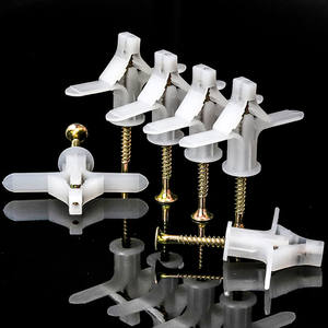 Nylon White Aircraft Toggle Anchor Expansion Wall Plug Plastic Drywall Wall Anchors with Screw