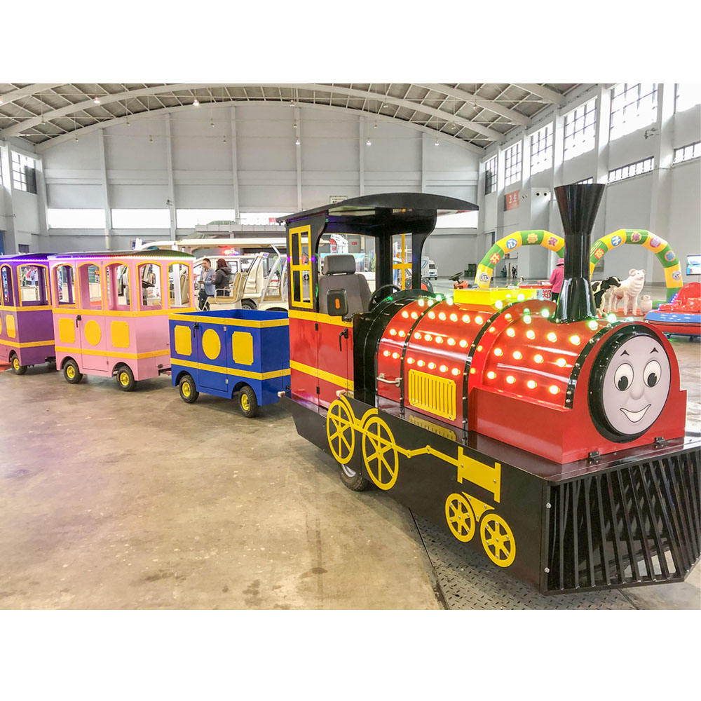 New Design Amusement Park Ride Kids Electric Mini Tourist Kiddie Trackless Train For Sale