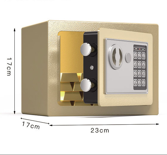 Electronic Digital Lock Security Safes Steel Metal Small Electronic Digital Safety Mini Safe Box For Home Hotel Beach Use