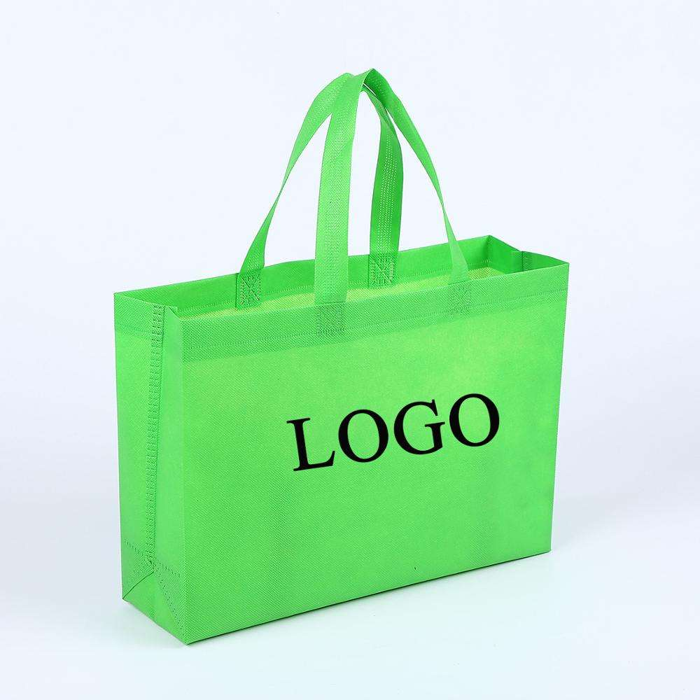 High Quality Promotional 80gsm Eco-Friendly Non Woven Fabric bag reusable Grocery Shopping Tote Bag trading show non woven bag