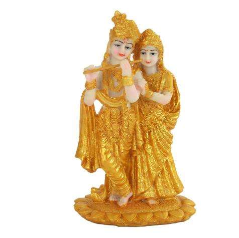 Radha Krishna Hindu God Statue and Goddess Idol