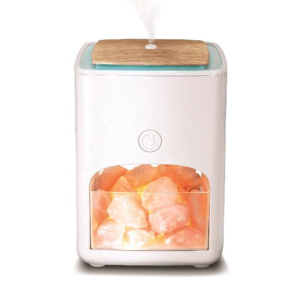 HOT SALE 2 in 1 Himalayan salt lamp and 150ml 7colors LED light essential oil Ultrasonic Aroma Diffuser