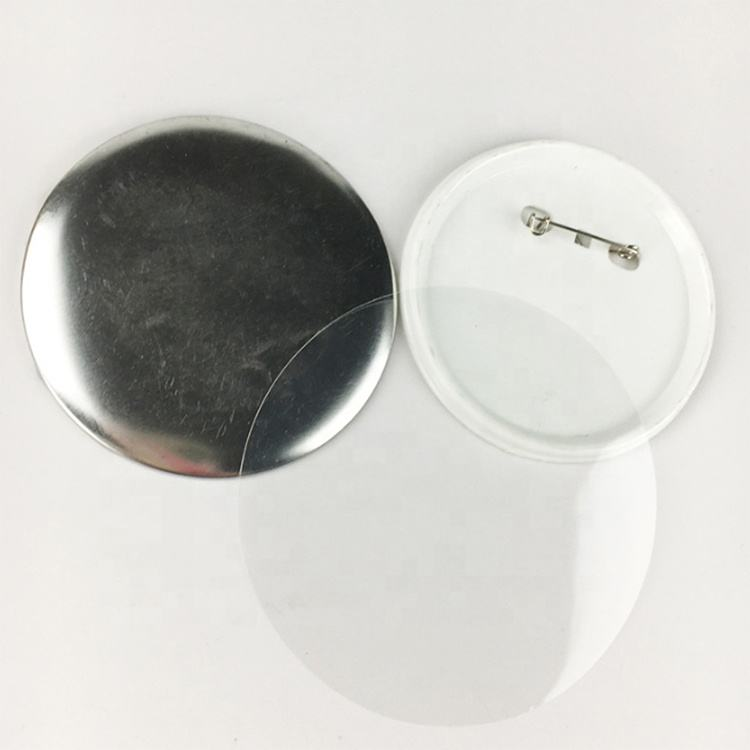 Blank Pin Badge Button per Badge Macchina di Sublimazione, con Olandese Pin, base in Plastica (Plastica + Metallo + Film) 75 Millimetri