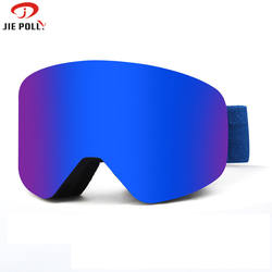 Jiepolly Factory Directly wholesale custom full hd ski goggle windproof framed ski goggles custom outdoor sport