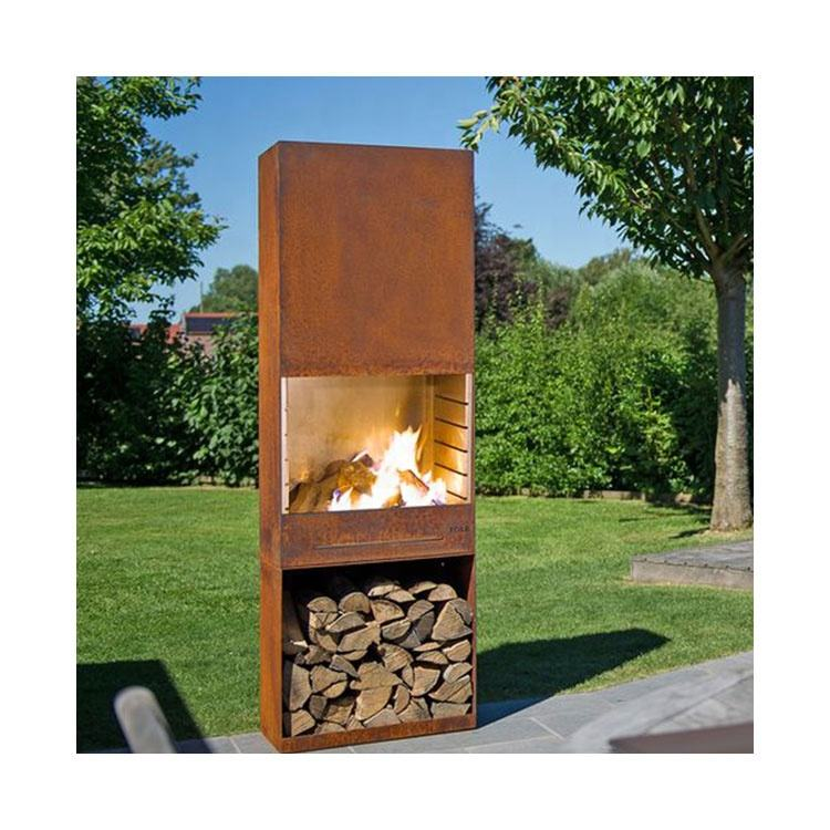 Custom Metal Outdoor Charcoal Fire Pit Firehouse With Chimney Outdoor Garden Fire Pit Metal Fire pit Metal Fireplace