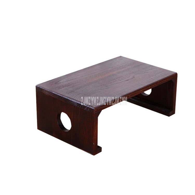 Japanese Style Tea Table Rectangle Solid Wood Antique Furniture Living Room Traditional Wooden Laptop Desk Floor Low Side Table