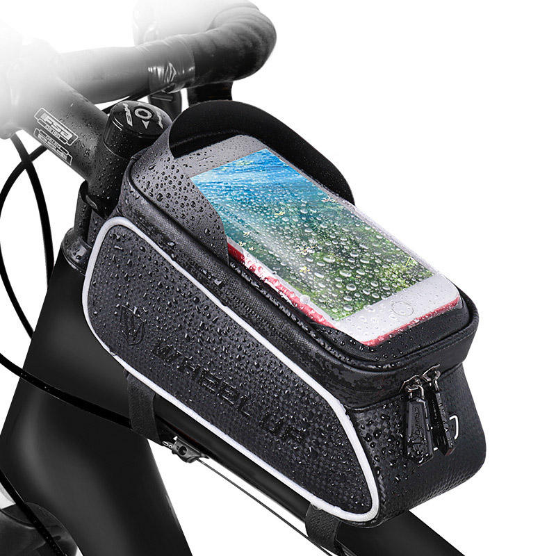 Bicycle Handlebar Bag [ Bag Bike ] Waterproof Motorcycle Phone Mount Bag Front Tube Frame Cycling Case Bike Bicycle Handlebar Bag