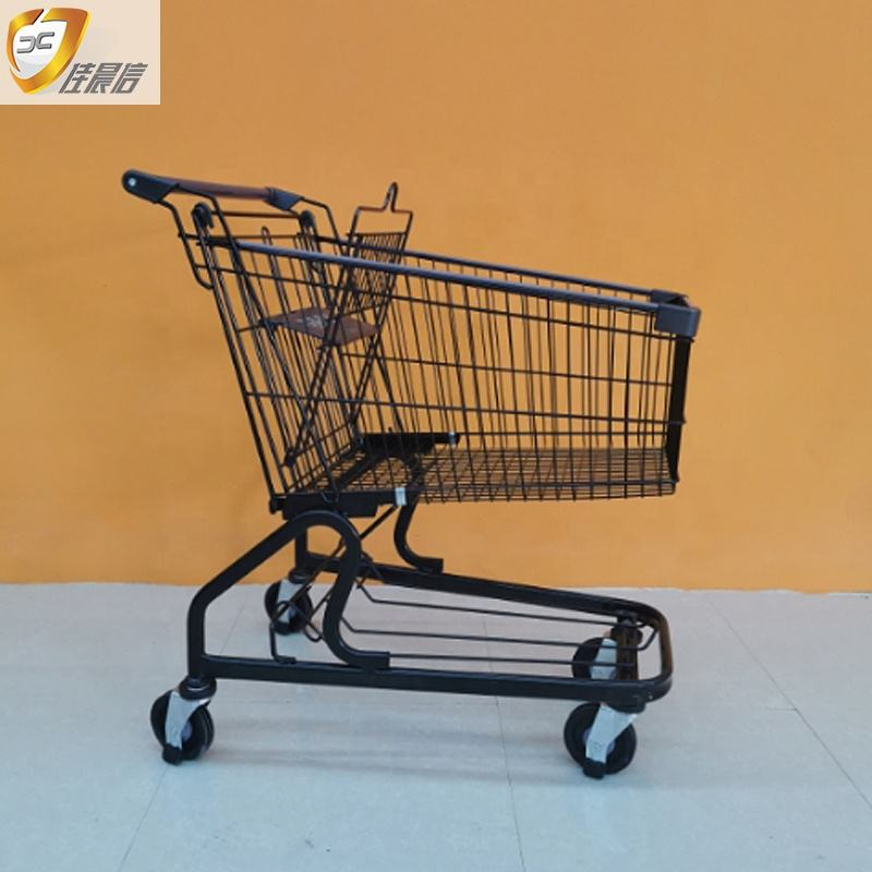 High quality hand carts and steel trolley cart shopping bags supermarket