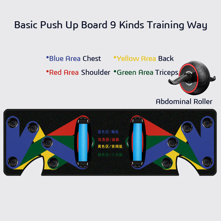 Oem Multifunctionele Draagbare 9 In 1 Spier Push Up Rack Board Systeem 12 In 1 Compleet Opvouwbare Push-Up beugel Training Set
