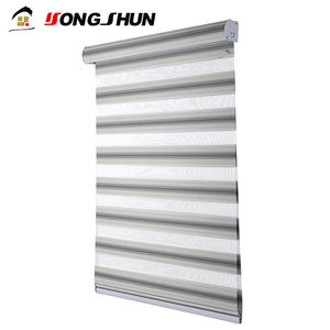 Yongshun 100% polyester motorized electric zebra window curtain motor roller blinds