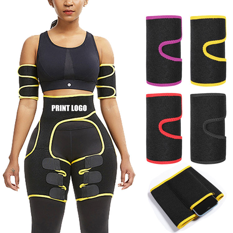 Customize No Moq Neoprene Thigh And Hips Shaper Arm Shaper Sets With 3 Adjustable Straps