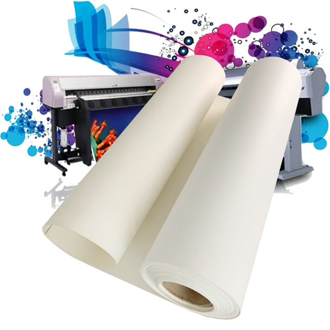 Sounda hot sale new model Inkjet polyester canvas sample free water proof self adhesive canvas